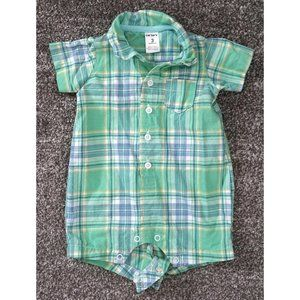 CARTERS Baby Child Boy Plaid Green Blue Outfit